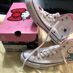 CONVERSE- hello kitty high tops -new - size 8.5